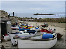 SW3526 : Boats at Sennen Cove by Oast House Archive