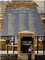 SP1051 : Bidford War Memorial Detail by David Dixon