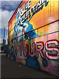 ST5973 : Blue Mountain graffito, North Street, Bristol by Robin Stott