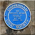 ST9173 : Blue Plaque on Western Arches by David Dixon