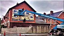 J3674 : New mural Pims venue by John Thompson