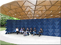 TQ2679 : Serpentine Gallery Pavilion 2017, wall and seating by David Hawgood