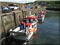 NT9561 : Fishing boats at Burnmouth by M J Richardson