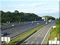TQ4254 : The M25 near Clacket Lane Services by Marathon