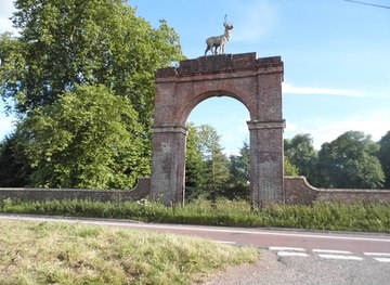 SY9299 : Stag Gate, Charborough Park by David Howard