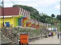 TA0390 : Beach huts, North Bay, Scarborough by Graham Robson