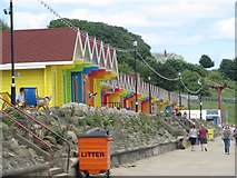 TA0390 : Beach huts, North Bay, Scarborough by Graham Robson