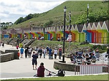 TA0390 : North Bay promenade and beach huts, Scarborough by Graham Robson