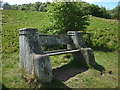 NZ0336 : Wooden seat on the Weardale Way by Karl and Ali