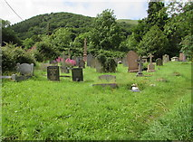 SO2813 : Southwest side of the churchyard, Llanfoist by Jaggery
