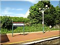 SD2877 : Ulverston  station  platform  and  name  board by Martin Dawes
