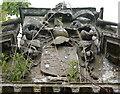NJ5949 : Meldrum monument: heraldry by Bill Harrison