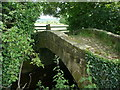 SE2946 : Packhorse bridge on footpath to Rougemont Carr by Humphrey Bolton