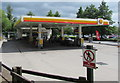 SO2913 : Shell filling station, Llanfoist by Jaggery