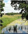 SO8844 : Croome River and church by Derek Harper