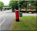 ST2280 : Pillarbox and telecoms cabinet on a Rumney corner, Cardiff by Jaggery