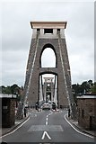 ST5673 : Clifton suspension bridge towers by John Winder