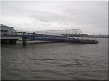 SJ3290 : Floating stage, Seacombe ferry terminal by Tim Glover