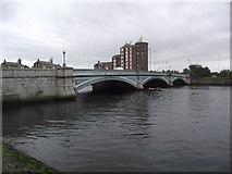J3473 : Albert Bridge crosses the River Lagan by Tim Glover