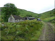 SH9621 : Hafod Fudr farm buildings by Richard Law