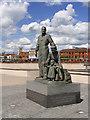 TA0928 : Migrants Statue, Humber Quay by David Dixon