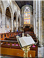 SE7428 : Howden Minster, Eagle Lectern and Great West Window by David Dixon