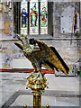 SE7428 : Howden Minster, Eagle Lectern and North Window by David Dixon