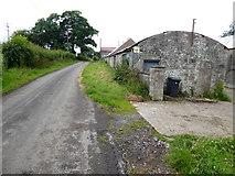 H5956 : Farm buildings along Sess Road by Kenneth  Allen