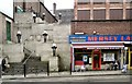 SJ8990 : Plaza Steps & Mersey Cafe by Gerald England
