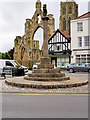 SE7428 : Howden Market Cross and Minster by David Dixon