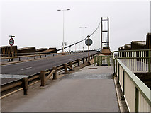 TA0223 : The Southern End of the Humber Bridge by David Dixon