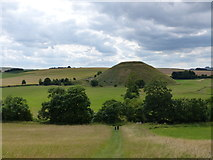 SU1068 : Silbury Hill seen from Waden Hill by Rob Purvis