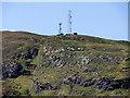 NN0874 : Antennae above Camusnagaul and Trioslaig by David Dixon