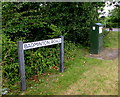 ST7082 : Badminton Road name sign and telecoms cabinet, Yate by Jaggery