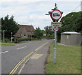ST6982 : Weight restriction sign, Nibley Lane, Nibley, South Gloucestershire by Jaggery