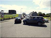 C2927 : Traffic jam along Kerrs Bay Road, Rathmullan by Kenneth  Allen