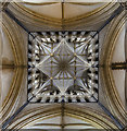 SK9771 : Beneath the main tower, Lincoln Cathedral by Julian P Guffogg
