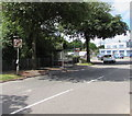 ST2178 : No right turn sign, New Road, Rumney, Cardiff by Jaggery
