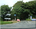 SW5636 : Minor road junction with Mellanear Road (B3302) by JThomas