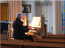 SW4730 : Organist, St Mary's Church, Penzance by Gary Rogers