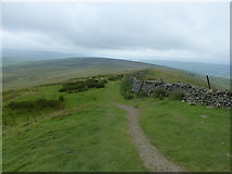 SD8372 : The Pennine Way south of Pen-y-ghent by Anthony Foster
