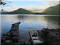 NN0334 : Old jetty at Craig by Hugh Venables