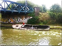 TQ2182 : Vandalism On The Grand Union Canal by Chris Andrews