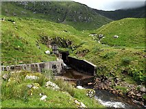 NN0829 : Tunnel feeder outlet above Cruachan Reservoir by Andrew Curtis