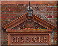 SU1430 : Old fire station sign in terra cotta, Salisbury by Julian Osley