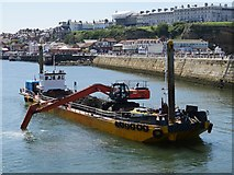 NZ8911 : Dredging At Whitby Harbour by James T M Towill