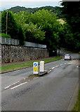 ST3090 : Keep left sign, Pillmawr Road, Malpas, Newport by Jaggery