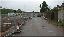SK5802 : Construction work next to the Old Saffron Lane by Mat Fascione