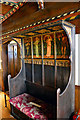 SO8698 : Settle by Bodley, painted by Kempe, Wightwick Manor by Philip Pankhurst