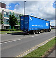 ST6982 : Knauf articulated lorry at the western edge of Yate by Jaggery